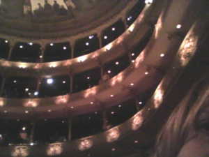 Last time at the ballet for Dracula, I was in the nosebleeds.