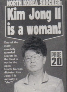 Well, that would explain why Kim Jong Ill becomes grumpy in cycles.